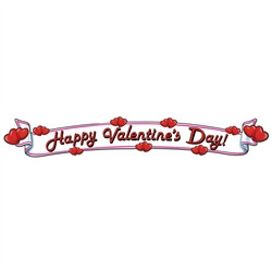 Valentines Day Sign, 35in (1/pkg)