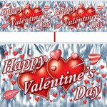 Metallic Valentine Banner 4ft (1/Pkg)