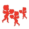 Red Cupid Cutouts