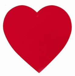 Red Heart Cutout (12 inches)