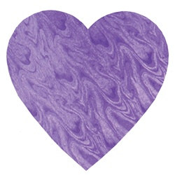 Purple Embossed Foil Heart Cutout (5 inch)