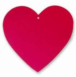 Red Foil Heart Cutout (4 inch)