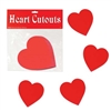 Red Heart Cutouts  4in (10/Pkg)
