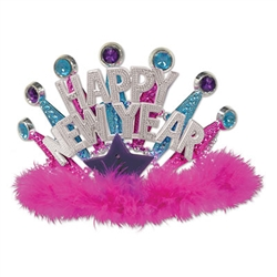 Plastic Light-Up Happy New Year Tiara