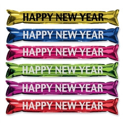 "Assorted Metallic ""Make Some Noise"" HNY Party Sticks"