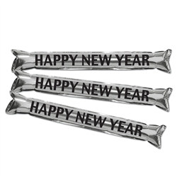 "Silver Metallic ""Make Some Noise"" HNY Party Sticks"