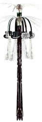 Black and Silver New Year Cascade Hanging Column