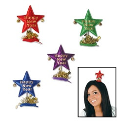 Happy New Year Star Hair Clip (1/pkg)