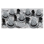 Silver Times Assortment will provide an array of foil hats, feathered tiaras, horns and beads for up to 50 New Year party guests. The black and silver color scheme of this assortment will lend a classy vibe to any New Year's celebration.