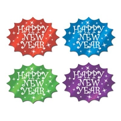Foil Happy New Year Cutouts (Sold Individually)
