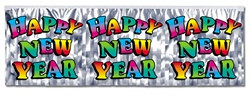 Metallic Multi-Color Happy New Year Banner