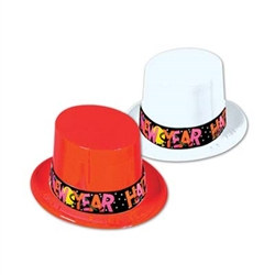 Plastic New Year Topper Hats