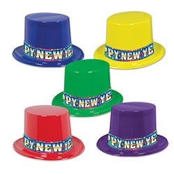 Rainbow Blast New Year Topper Hats (1/pkg)