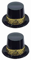 Gold Stardust New Year Topper Hats (1/pkg)