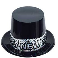 Silver Stardust New Year Topper Hat