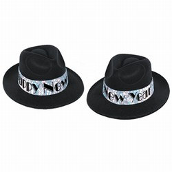 Swingin Black and Silver New Year Fedora