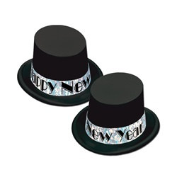 Black and Silver New Year Topper Hats