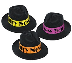 Neon Swing New Year Fedora (1/pkg)