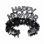 Black and Silver Happy New Year Regal Tiaras (sold 50 per box)