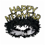 Black and Gold Happy New Year Regal Tiara