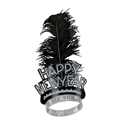 Black and Silver New Year Swing Tiara