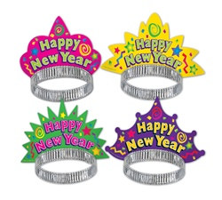 Color-Brite New Year Tiaras (sold 50 per box)