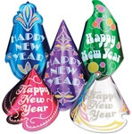 Champagne Foil New Year Hat Assortment