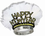 Black and Gold New Year Bird of Paradise Tiara (sold 50 per box)