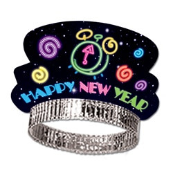 Neon New Year Tiaras (sold 50 per box)