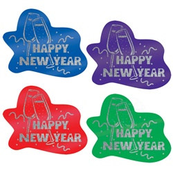 Glittered Happy New Year Signs