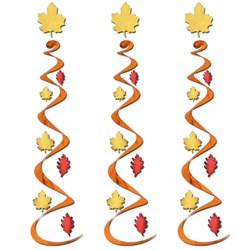 Fall Leaf Whirls (3/pkg)