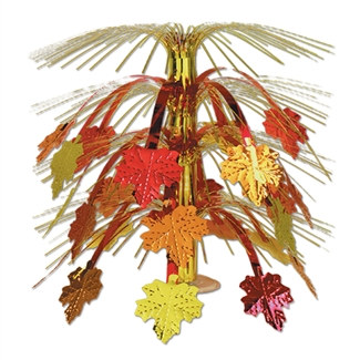 Fall Leaves Cascade Centerpiece