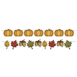 The Rustic Fall Streamer Set is made of cardstock and printed on one side. Features cutouts of leaves, acrons, and pumpkins. Comes with one string and 16 cards so you can make any streamer you want. Two-in-one streamer set. Contains one (1) per package.