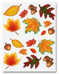 Fall Leaf Stickers (4 sheets/pkg)