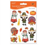 Pilgrim and Turkey Stickers (4 sheets/pkg)