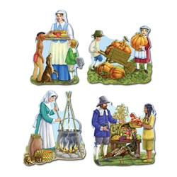 Thanksgiving Cutouts (4/pkg)