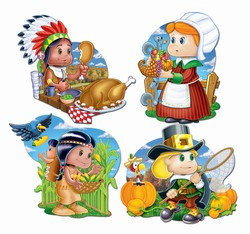 Thanksgiving Kiddie Cutouts