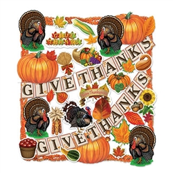 Flame Retardant Thanksgiving Trimorama