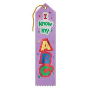 I Know My ABC's Ribbon