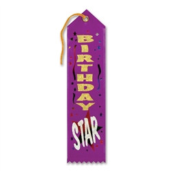 Birthday Star Ribbon