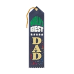 Navy World's Best Dad Ribbon