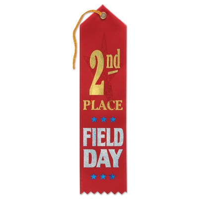 Field Day 2nd Place Ribbon