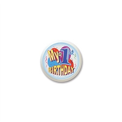 My 1st Birthday Blinking Button