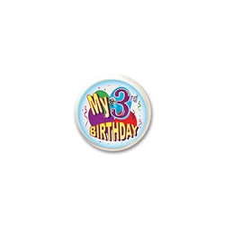 My 3rd Birthday Blinking Button