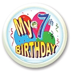 My 7th Birthday Blinking Button