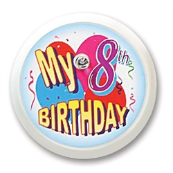 My 8th Birthday Blinking Button