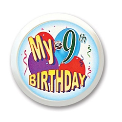 My 9th Birthday Blinking Button