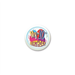 My 10th Birthday Blinking Button