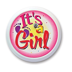 It's A Girl Blinking Button