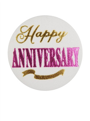 Happy Anniversary Satin Button